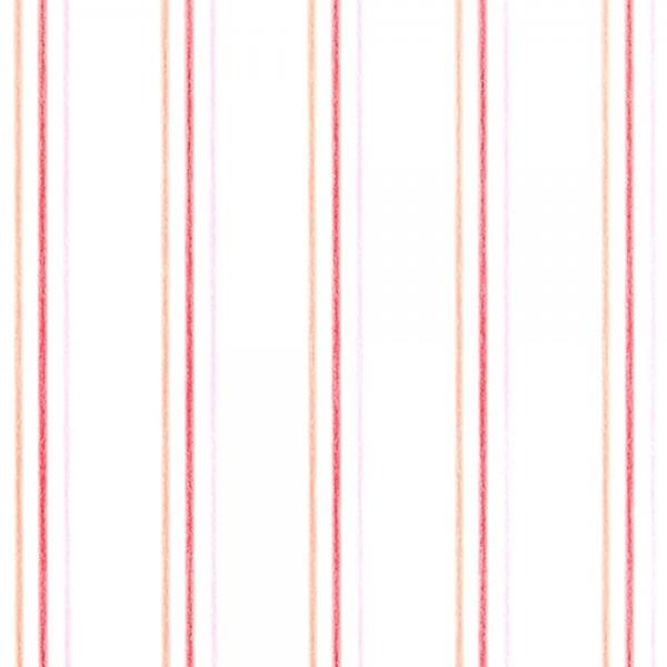 Casadeco Arc En Ciel Streifentapete Aquarell orange pink lila