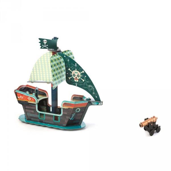 Djeco Kinder Spielzeug Piratenschiff