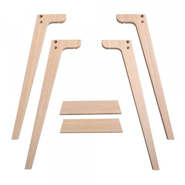 Oliver Furniture Wood Extrabeine für Schreibtisch 72,6 cm Holz Eiche