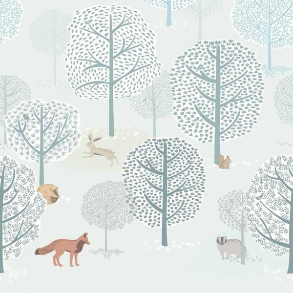 Eijffinger Wandbild Tiere im Wald
