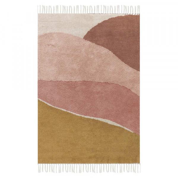 Little Dutch Teppich Landschaft pink 90 x 130