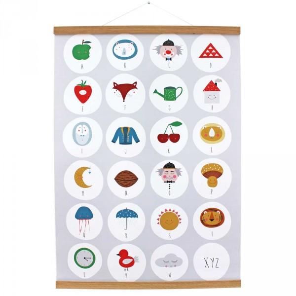 Ava & Yves Kinderposter Alphabet