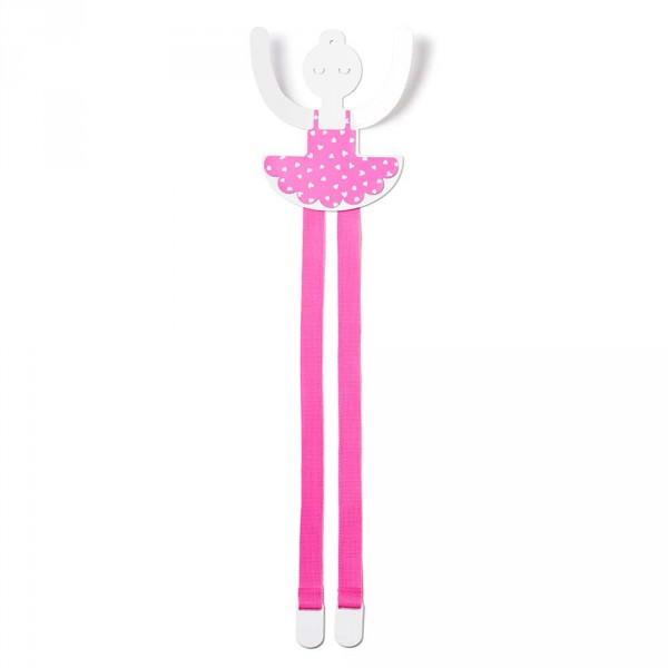 tresxics Wandhaken & Haarspangenhalter Ballerina pink