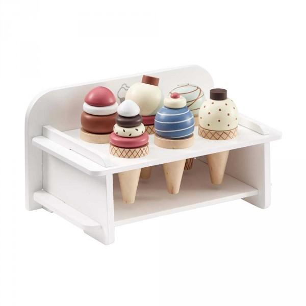 Kids Concept Eiscreme Halter Holz mit Eiswaffeln