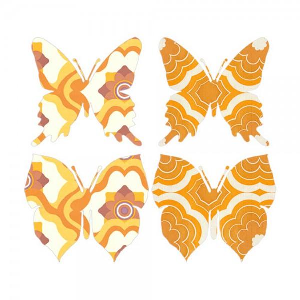 Inke Tapetenschmetterlinge orange