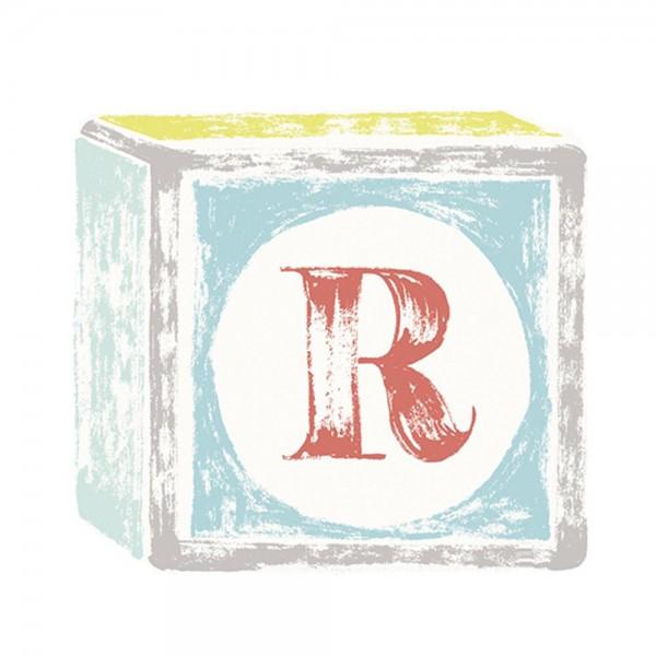 Lilipinso Sticker Buchstabe auf Spielwürfel R