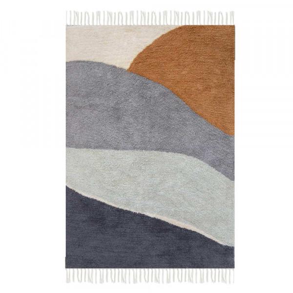 Little Dutch Teppich Landschaft blau 90 x 130
