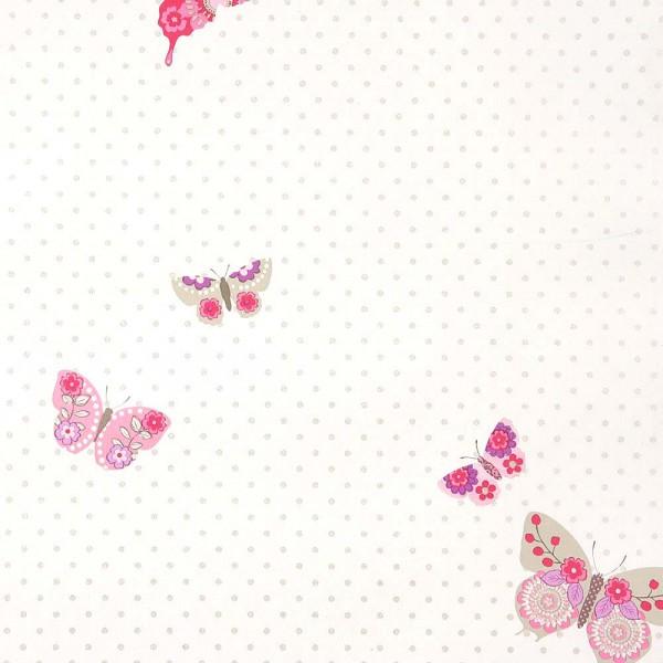 Caselio Girls only Tapete Schmetterlinge lila pink