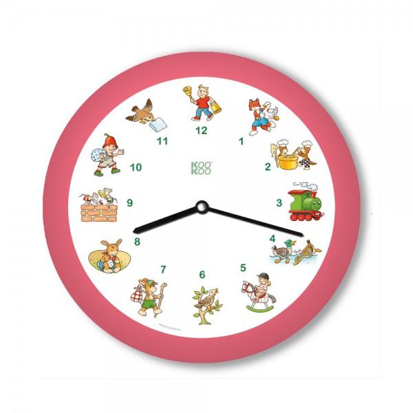 Kookoo Kinder Wanduhr Kinderlieder pink