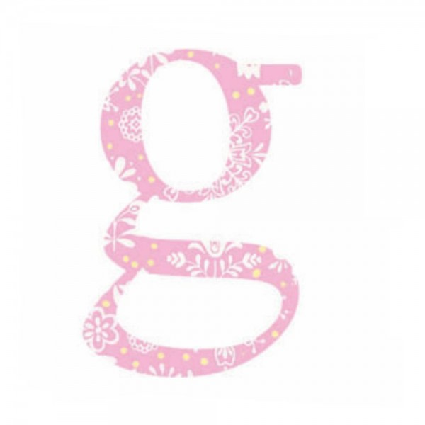 Lilipinso Sticker rosa Buchstabe g