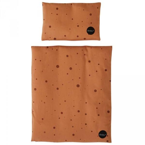 OYOY Puppenbettwäsche Punkte karamel