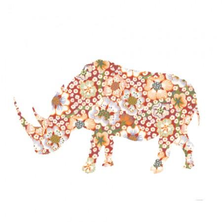 Inke Tapetentier Nashorn Exotic rot