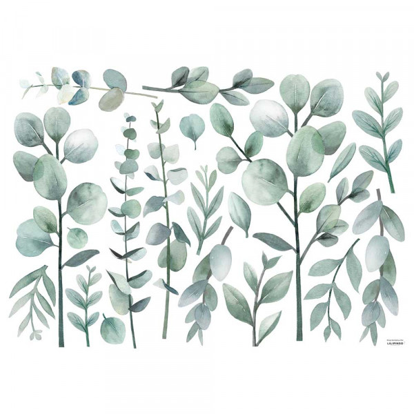 Lilipinso Wandsticker L Eucalyptuszweige zartgrün