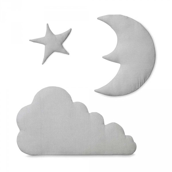 Cam Cam Wanddeko Nachthimmel grau
