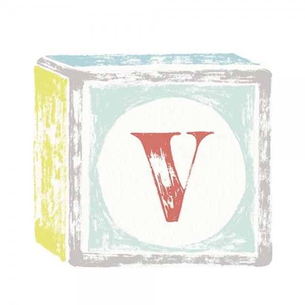Lilipinso Sticker Buchstabe auf Spielwürfel V
