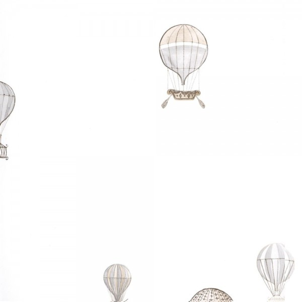 Casadeco Tapete Heissluftballons grau braun Jules & Julie