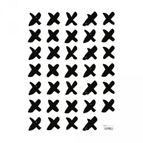 Lilipinso Wandsticker Kreuze schwarz weiß