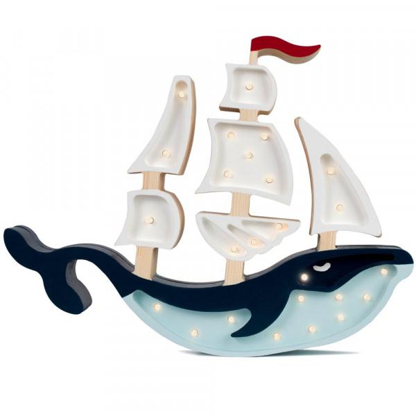 little lights Led Deko Kinderlampe Wal Segelboot