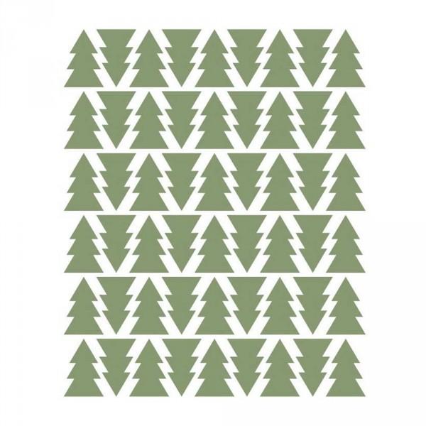 tresxics Wandsticker Tannenbäume khaki