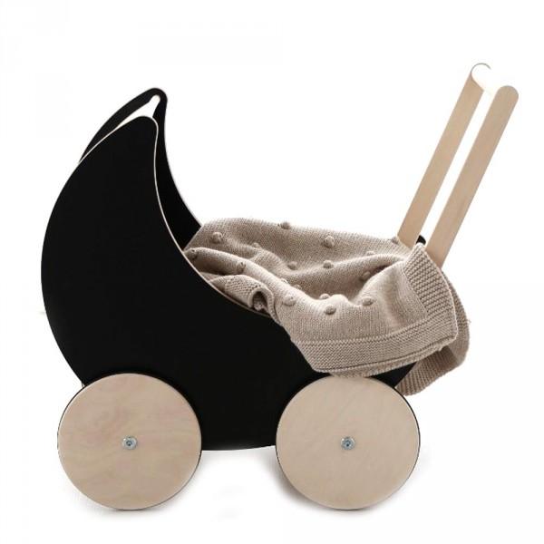 ooh noo Puppenwagen schwarz mit Tafellack