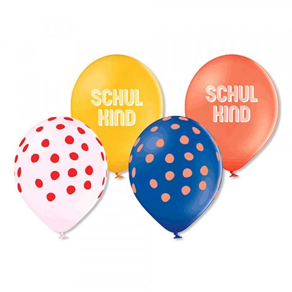 Ava & Yves Luftballons Schulkind Naturkautschuk