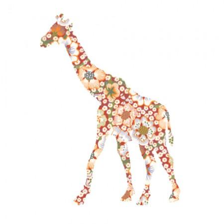 Inke Tapetentier Giraffe Exotic rot