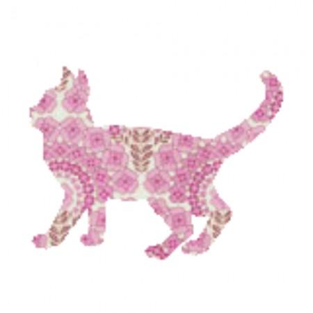 Inke Tapetentier Katze rosa