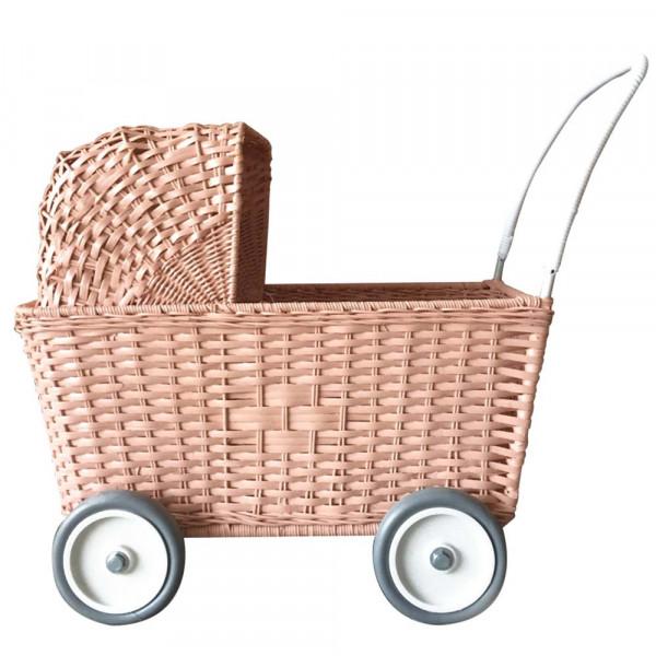 Puppenwagen aus Korb