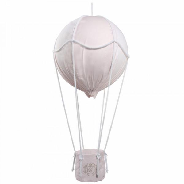 Caramella Deko Heissluftballon goldenes Emblem rosa