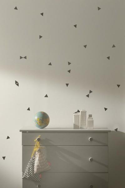 Ferm Living mini Wandsticker Dreiecke schwarz
