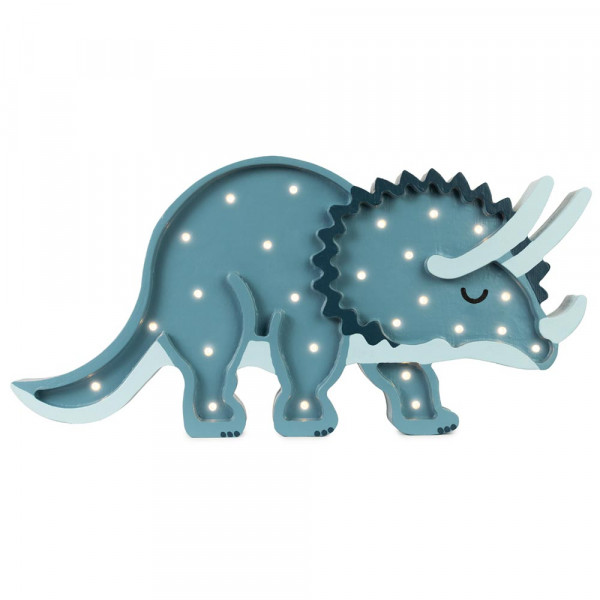little lights Led Deko Kinderlampe Dino dunkelblau