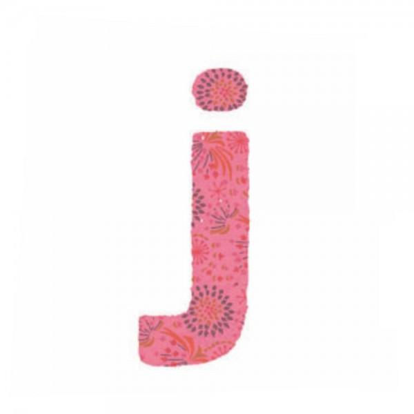 Lilipinso Sticker rosa Buchstabe j