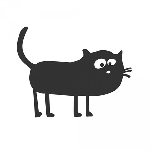 cats on appletrees Wandsticker Katze Friedegunde