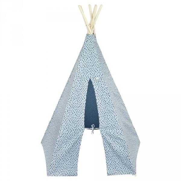 """Trixie Spielzelt / Tipi """"Blue Meadow"""" blau"""