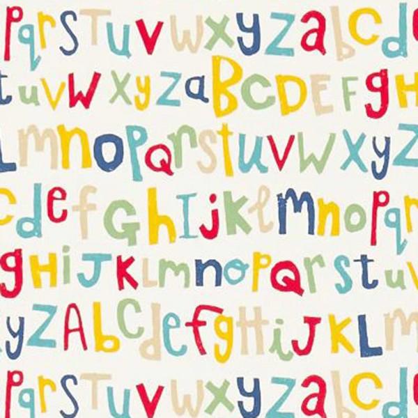 Scion Guess Who Stoff Buchstaben rot gelb blau