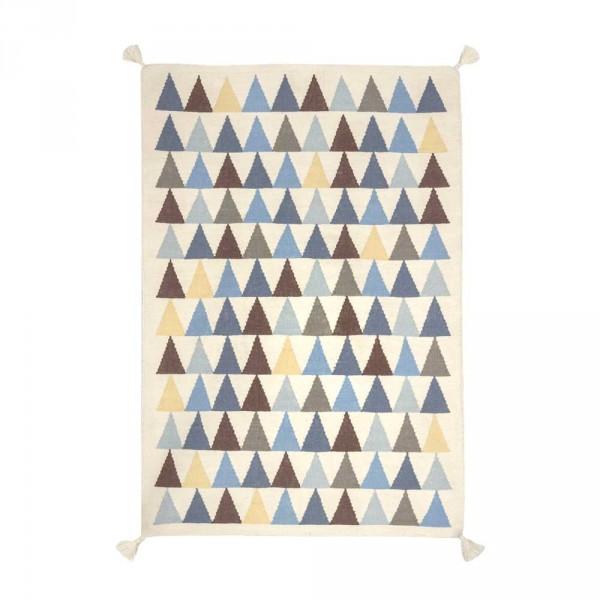 Art for Kids Kinderteppich Dreiecke blau