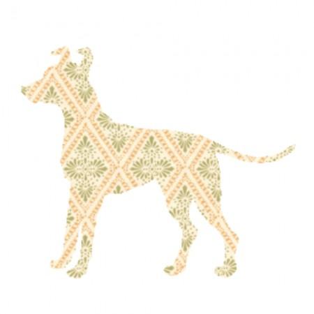 Inke Tapetentier Hund Raute beige