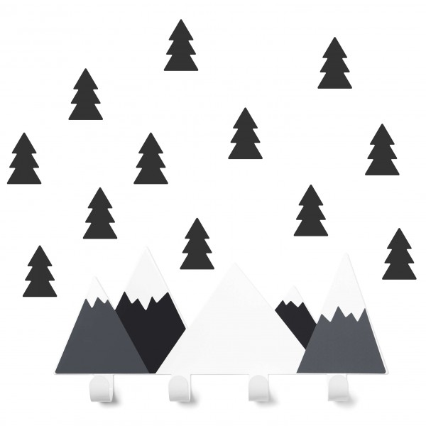 tresxics Kindergarderobe Berge schwarz