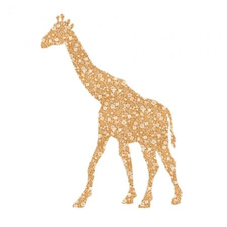 Inke Tapetengiraffe Blümchen braun