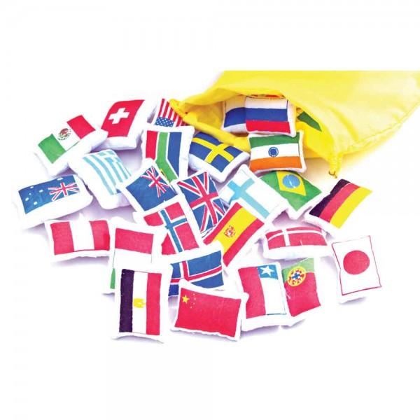 Oskar & Ellen Flaggen Sticker für Weltkarte