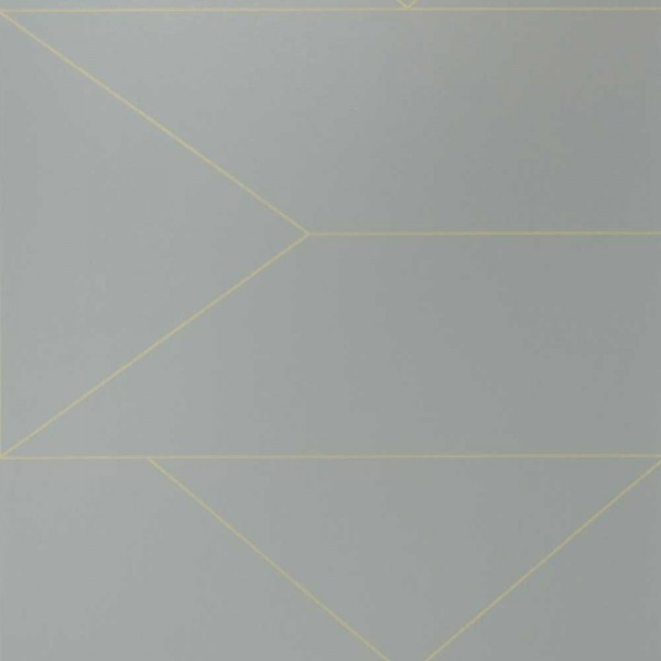 Ferm Living Tapete Lines grau mit gold