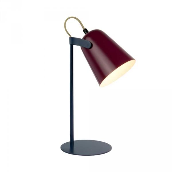 """Fisura Metall Schreibtischlampe """"Chloe"""" aubergine schwarz"""
