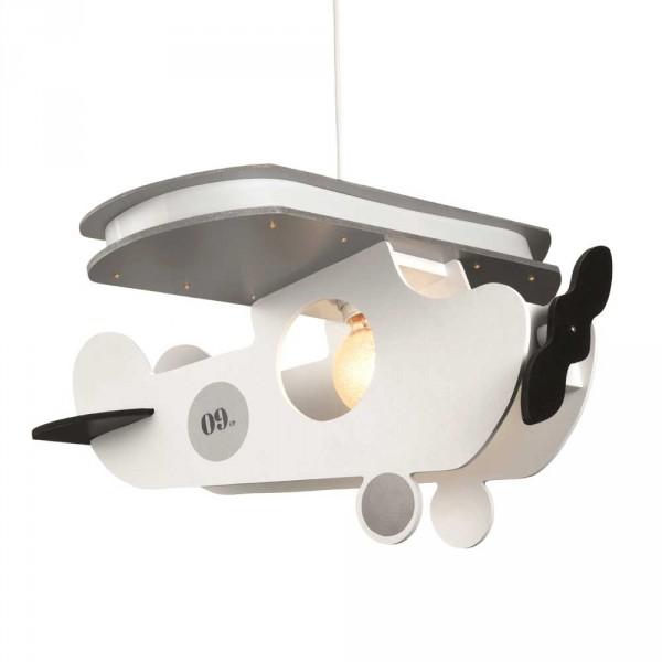 Bink Pendellampe / Kinderlampe Flugzeug Holz