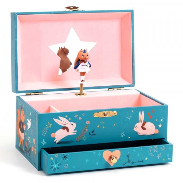 Djeco Schmuckschatulle mit Spieluhr Magisches Eichhörnchen