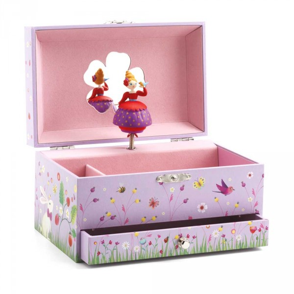 Djeco Schmuckschatulle mit Spieluhr Prinzessin und Vögelchen
