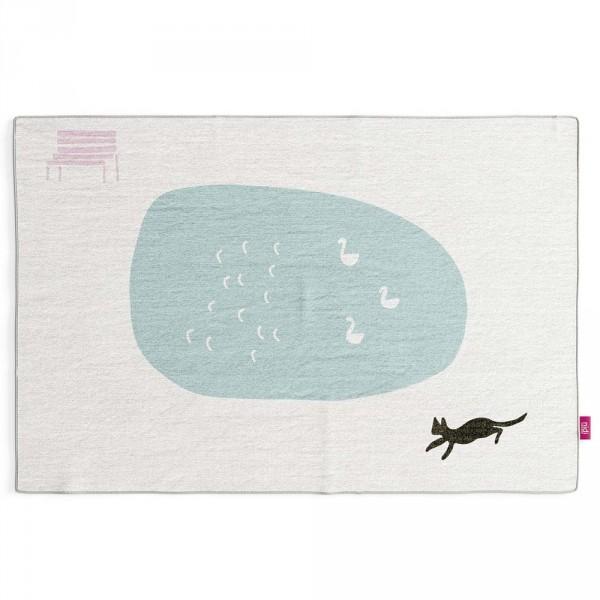 Nidi Kinderteppich Katze am Schwanen Teich