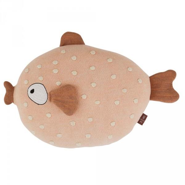OYOY Deko Strickkissen / Kuscheltier Fisch MS. Ruth rosa