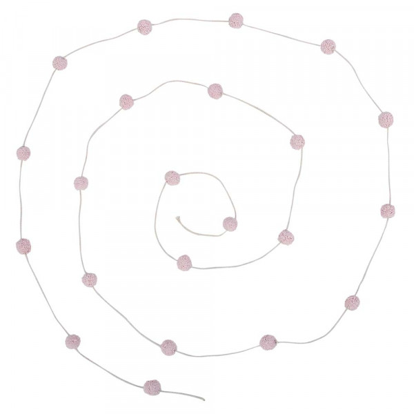 Lorena Canals Girlande Perlenkette rosa