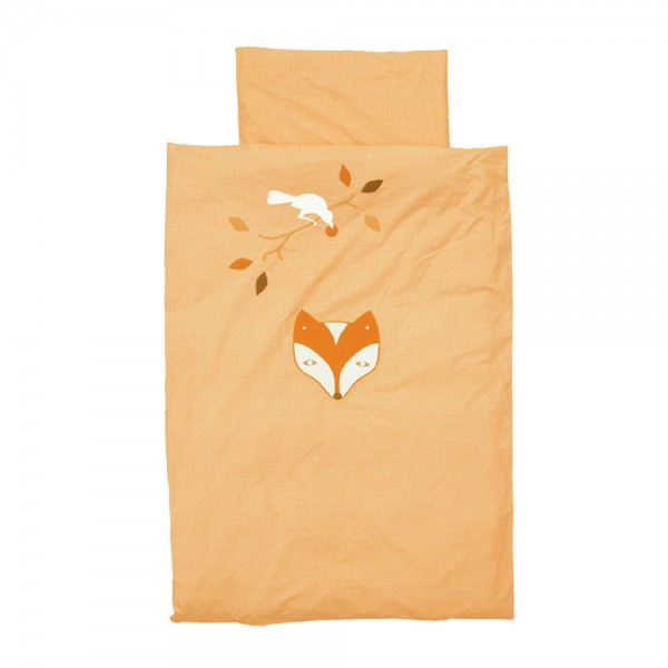 Taftan Kinderbettwäsche Fuchs & Rabe orange 100 x 135