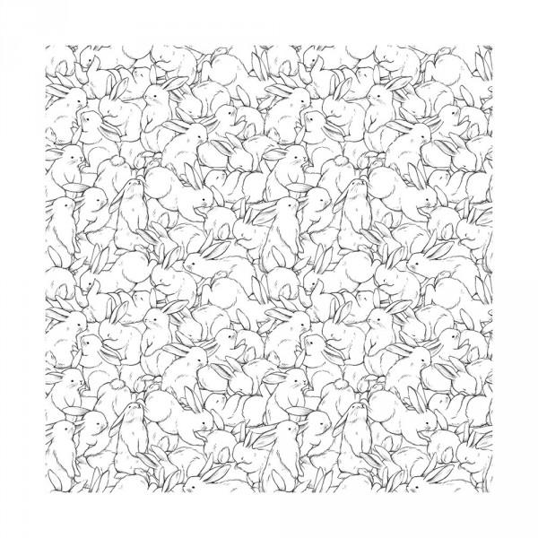 Lilipinso Vlies Tapete Hasengetümmel grau weiss